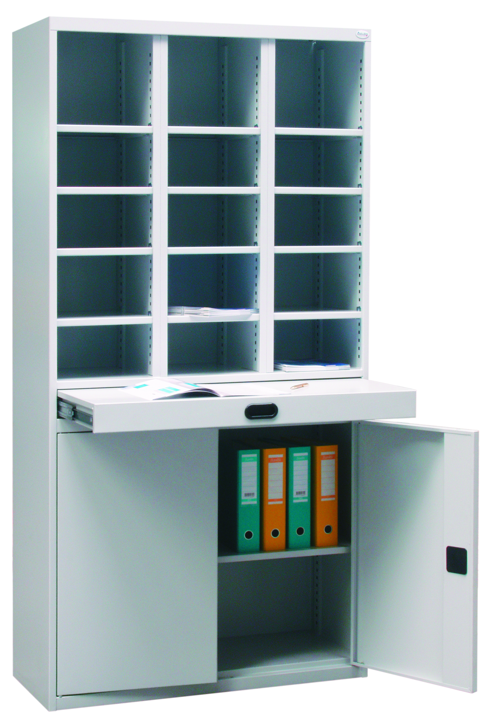 Library cabinet.